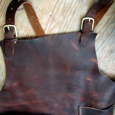 Leather Work Apron by CyclonaDesigns