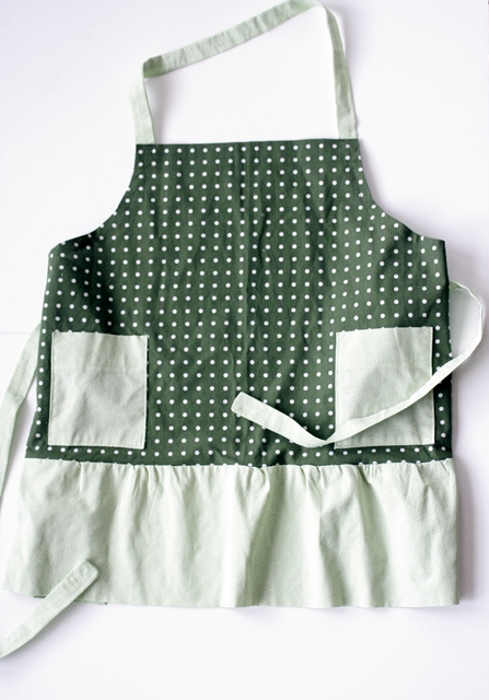 Ms. Jeannie's first-ever sewing project: an apron!