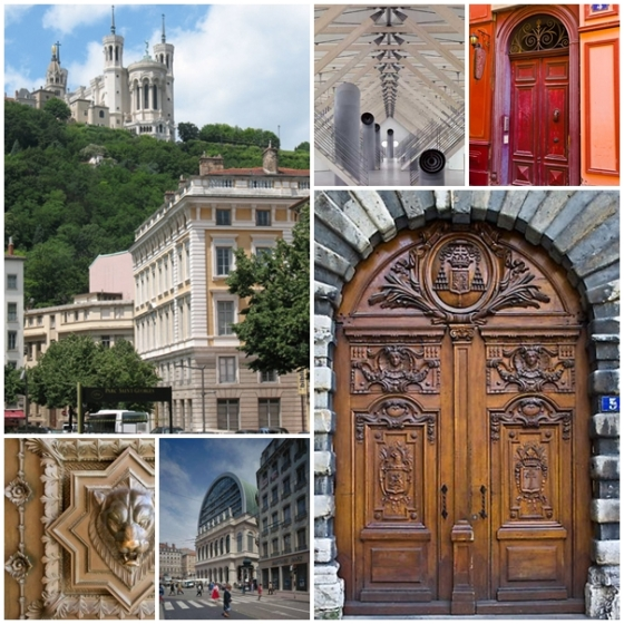The amazing architecture of Lyon. Ms. Jeannie loves those doors too!