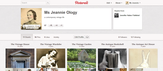 Ms. Jeannie's now on pinterest!