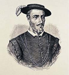 Spanish naturalist and physician Francisco Hernandez de Toledo (1514-1587).