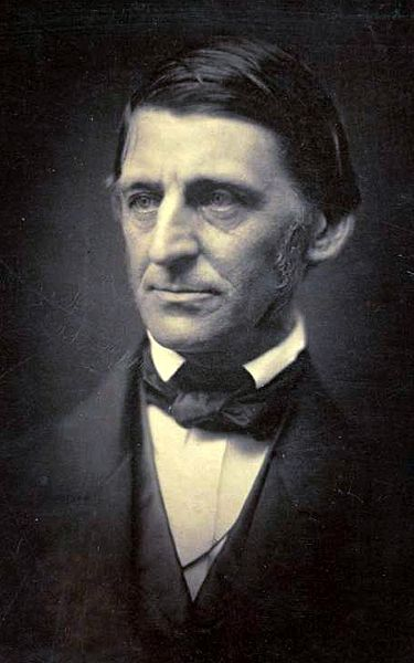 Ralph Waldo Emerson (1803-1882) Boston born poet and philospher credited with leading the transcendentalist movement in America.