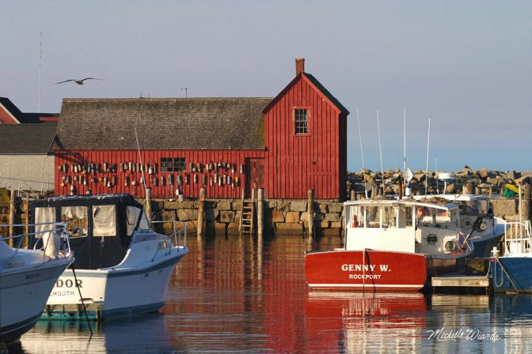 Bradley Wharf in Rockport Massachusetts. Photograph courtesy of fineartamerica.com