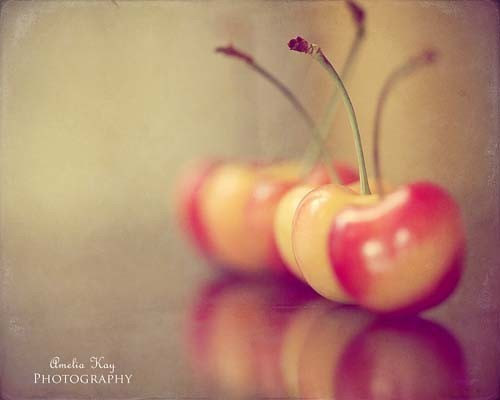The exotic appeal of white cherries. Photograph by AmeliaKay Photography