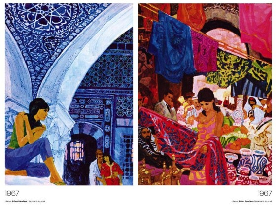 Brian Sanders illustrations circa 1967. Photos courtesy of livejournal.com