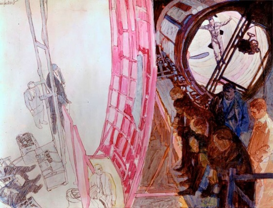 Illustrations from Stanley Kubrick's 2001: A Space Odyssey. Photo courtesy of feedbagblog.blogspot.com