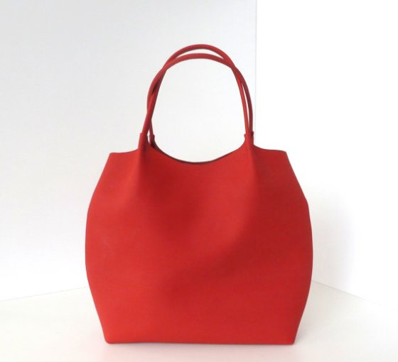 Cardinal Red Leather Tote Bag by Boga Bag