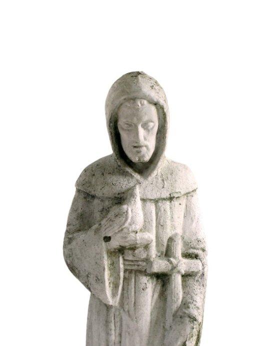 Vintage Concrete St. Francis of Assisi Statue