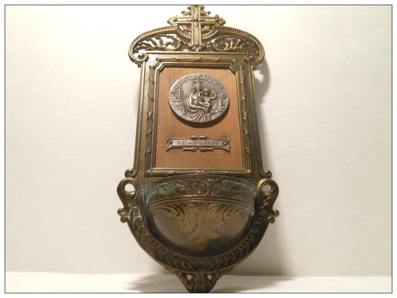 Vintage French Holy Water Font from French Provisions