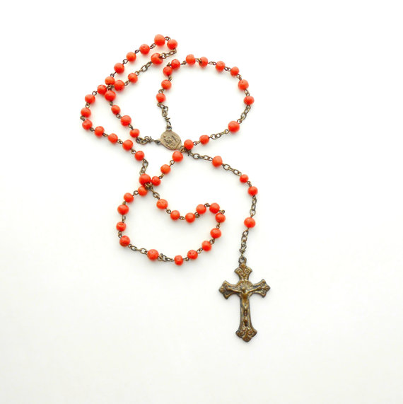 Antique Coral Rosary from theDeeps