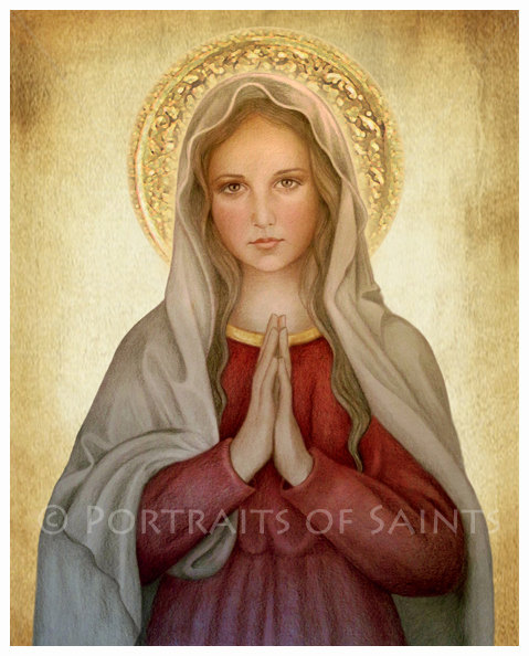 Mary, Mother of God Art Print by Portraits of Saints