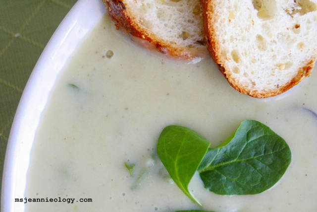 Ms. Jeannie's Leek and Potato Soup...