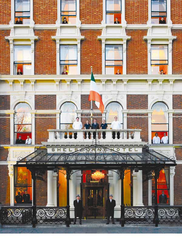 The Shelbourne Hotel on St. Stephens Green in Dublin
