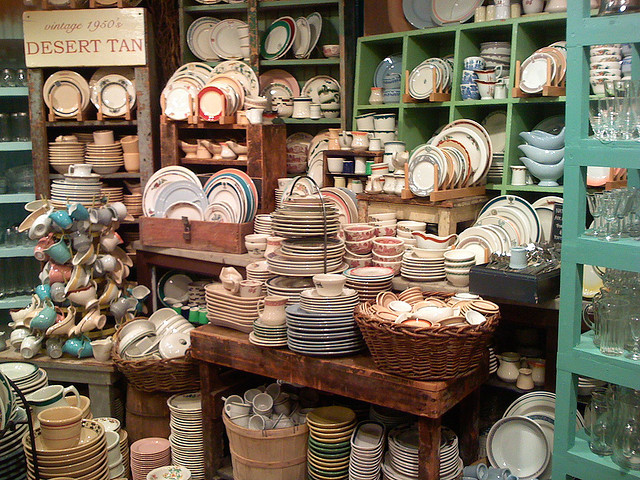 "A ""traditional"" Fishs Eddy store display. Look at all those possibilities! Photo via flickr."