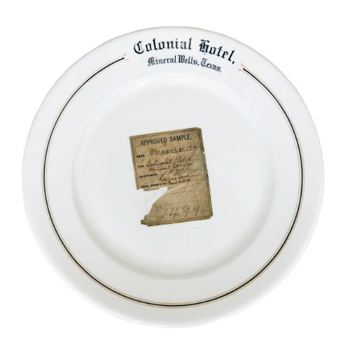 Colonial Hotel Sample Plate available at fishseddy.com (click for more info)