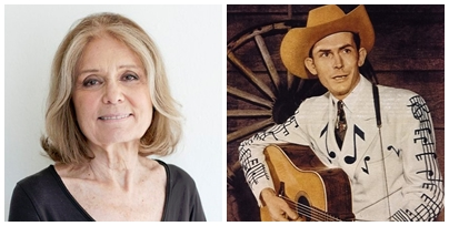 Julie's lunch companions. Gloria Steinam is an American journalist, activist, feminist and leader of the women's liberation movement in the 1960's and 1970's. Hank Williams (1923-1953) was a highly influential American country music artist.