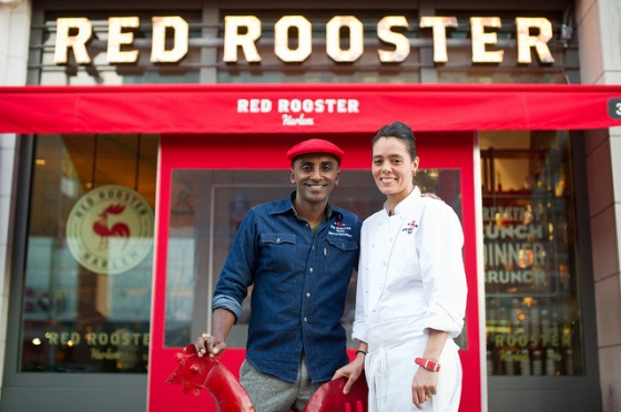Red Rooster Harlem -  American comfort food cuisine - between 125th and 126th Streets (click for their menu)