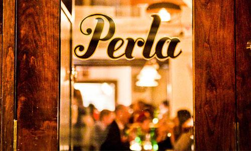Perla  - a rustic Italian restaurant at 24 Minetta Lane in the West Village. (Click photo for menu). Photograph courtesy of roundpulse.com
