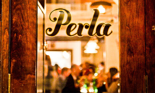 Perla  - a rustic Italian restaurant at 24 Minetta Lane in the West Village. (Click photo for menu). Photograph courtesy of roundpulse.com