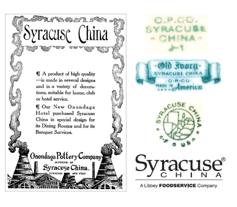 Syracuse china marks from the 1890's -2009