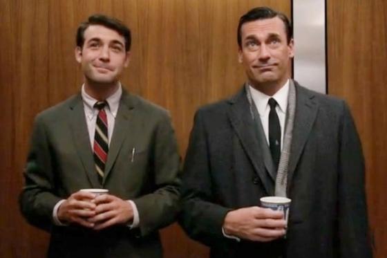 From Season 6, Don Draper & Bob Benson. Photo via pinterest.