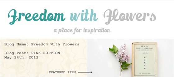 Freedom with Flowers follows the adventures of Regan, who just celebrated her 20th birthday and has a gorgeous appreciation of all things floral.