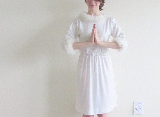 Vintage Christmas Angel Nativity Dress. This is one of more than a dozen pieces in Nicole's shop that contribute to disaster relief funds. Click here to see what catches your eye.