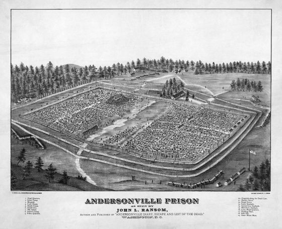 Camp configuration at Andersonville. Photo courtesy of mihp.org