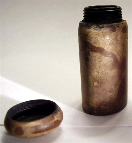 Albert's inkwell that he carried with him throughout the Civil War.