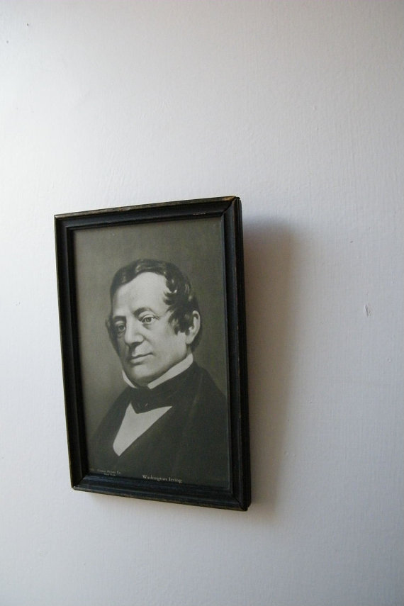 Vintage Washington Irving portrait from dogsbodysalvage (click for more info)