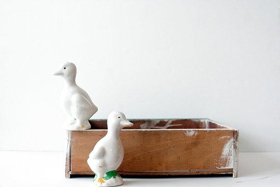 Vintage Duck Salt & Pepper Shakers