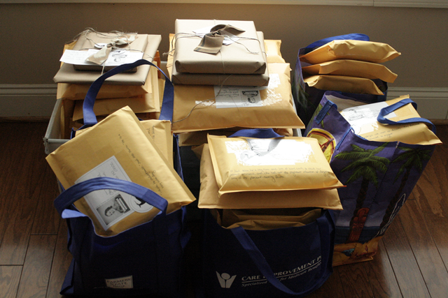 February book club packages ready for the post office!