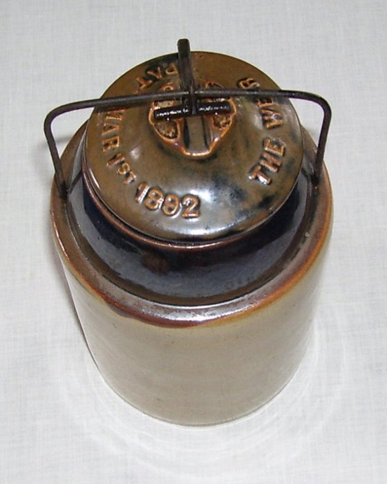 A complete, fully intact  version a Weir Jar from Swan Creek Vintage (click for more info)