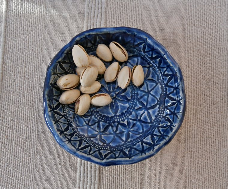Blue Ceramic Tapas Dish made by Blue Butterfly Crafts - $15.00