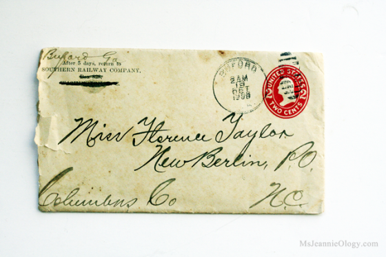 A letter postmarked 104 years ago to the very day!
