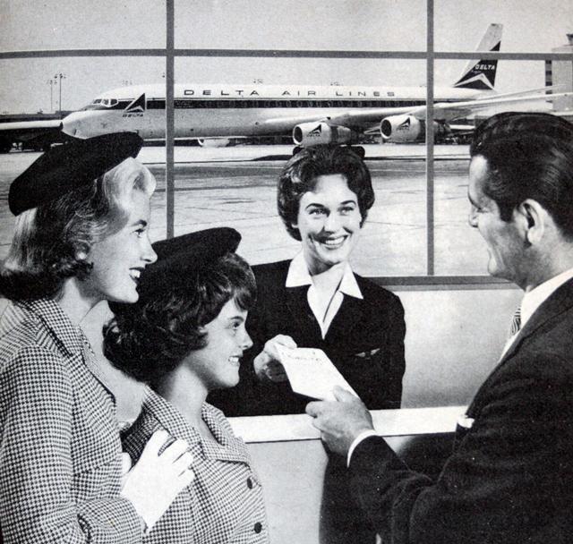 Delta Airlines ad circa 1964