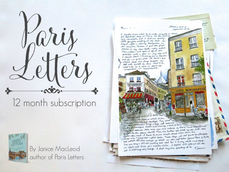 Subscribe to Janice's beauiful Paris letters project for one month, six months or 12 months here