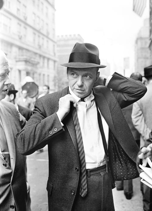 Frank Sinatra on set of The Detective, NYC 1967, photo via pinterest