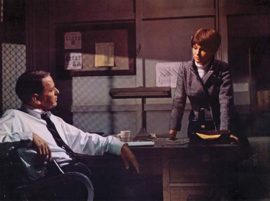 Scene from The Detective. The movie also starred Lee Remick,  Jacqueline Bisset and Robert Duvall. Photo via pinterest.