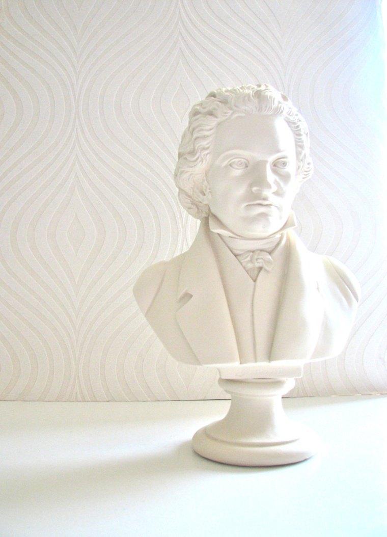Cream Beethoven Bust made by mahzerandvee, $70