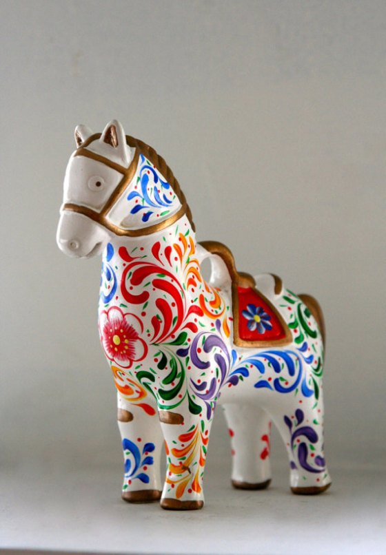 Colorful Ceramic Horse from KukuliMarket, $38