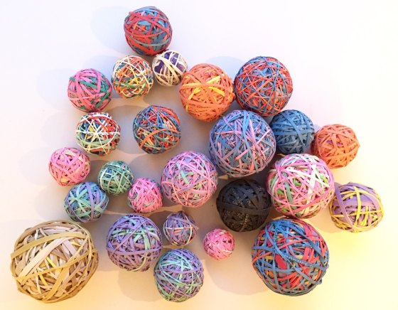 Colorful Rubber Band Balls by BeFashinoablyOnTime, $3.50