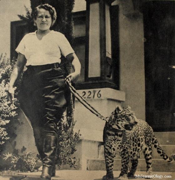 Olga Celeste on set with Neissa. Photo courtesy of Click magazine, 1938.