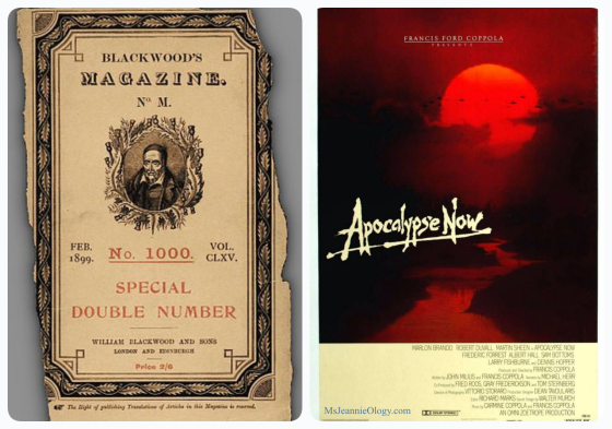 In 1899, Joseph Conrad wrote the book Heart of Darkness which became the inspiration for the 1979 Francis Ford Coppola film Apocalypse Now.