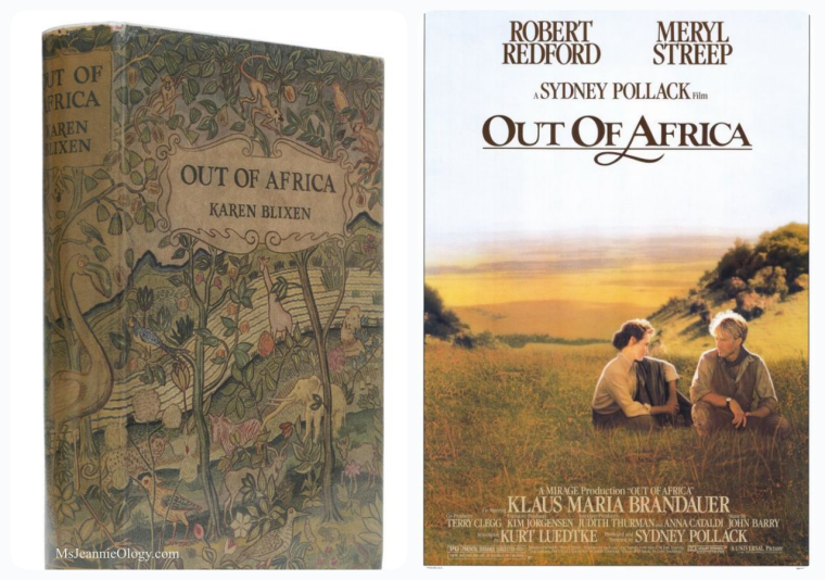 Karen Blixen published her memoirs of life on an African coffee plantation under the name Isak Dinensen in 1937. Meryl Streep brought her to life on the big screen in 1985.