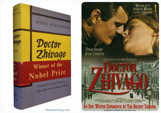 Doctor Zhivago swept the histrical romance world thanks to writer Boris Pasternak in 1958. Seven years later it became a Hollywood giant starring Omar Sherif and Julie Christie.