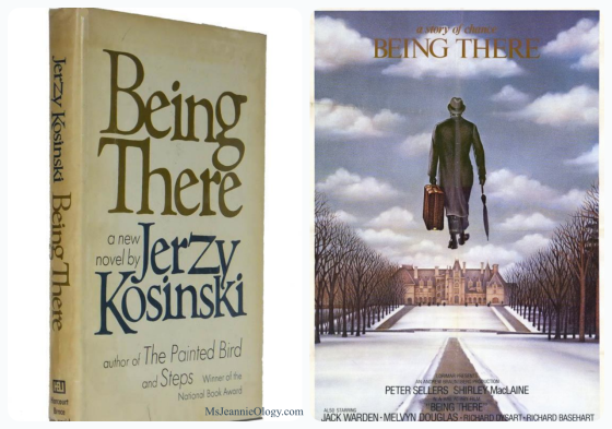 Jerzy Kosinski published Being There in 1971. Peter Sellers starred in the film adaptation in 1979.