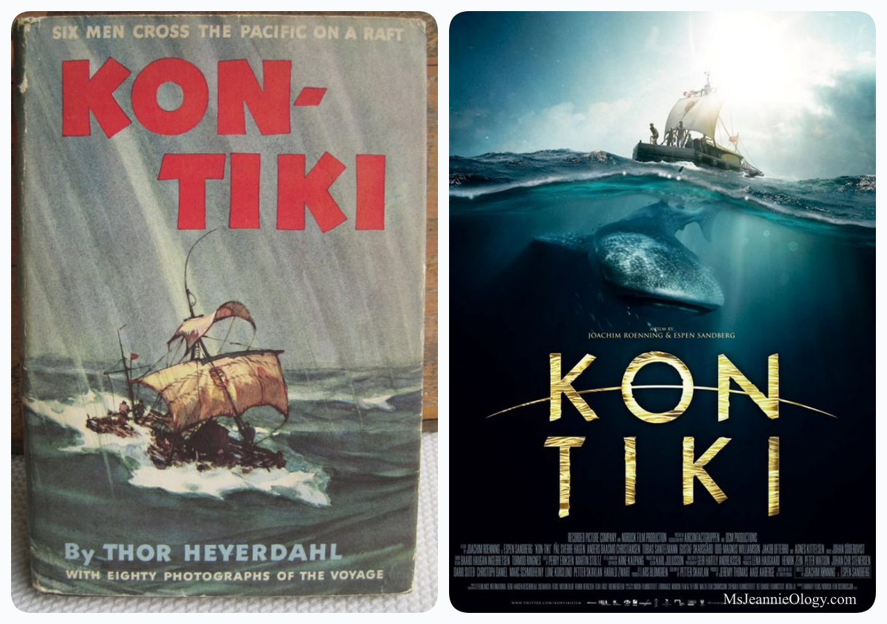 in the late 1940's Thor Hyerdahl defied logic by following the path of KonTiki across the ocean on a primative sailing vessal. He published his account of the experience in 1953. In 2012 a group of Scandinavian filmmakers brought the nail-biting, edge of your seat experience and infectious spirit of adventure to the big screen.