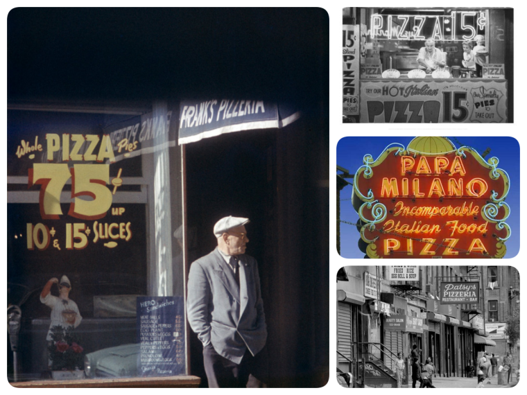 Strolling through 19th century pizza signs