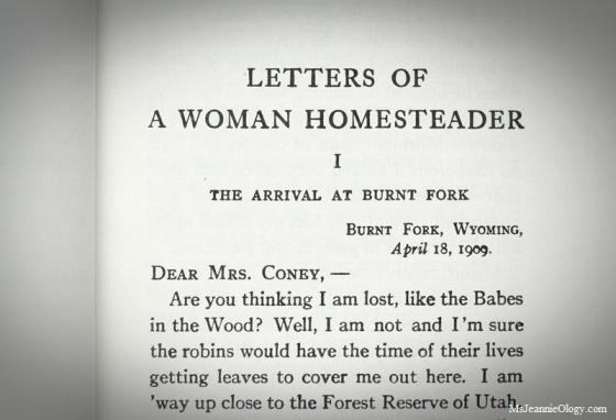 Letters of a Woman Homesteader - Elinore Pruitt Stewart, 1914